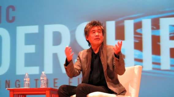 David Henry Hwang during his Keynote Address
